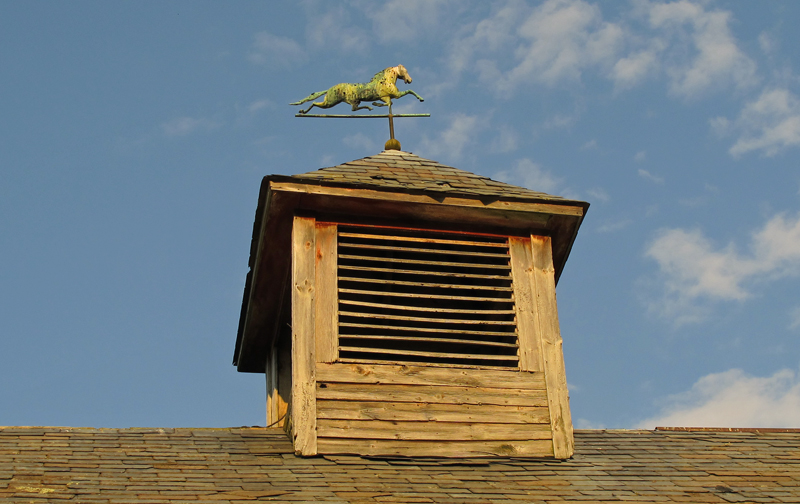 Cupola atop barn at Full and By Farm in Essex, NY
