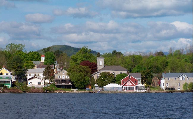 Essex View from Lake Champlain