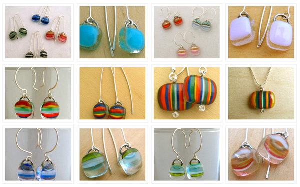 Essex Glass jewelry created by Beverly Burke Eichenlaub in Essex, NY