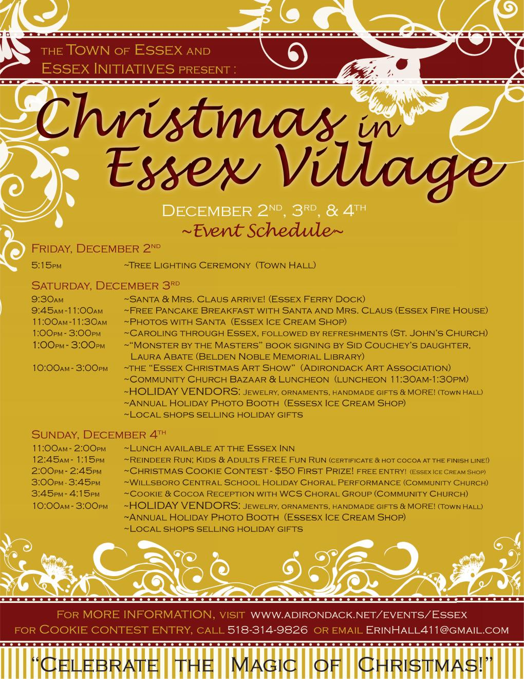 Christmas in Essex Village, 2011 Flyer