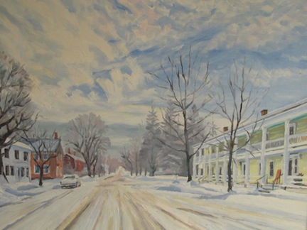 The Essex Inn (Painting by Bill Amadon)