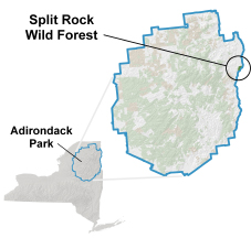 Split Rock Map