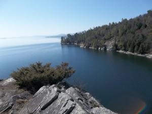 Barn Rock overlook at Split Rock