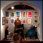 Bill Poppino reading a poem at the Adirondack Art Association in Essex, NY.