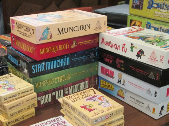 Some of the table top games available at Bakucon.