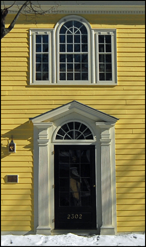 The Hascall House, entrance detail (Photo: virtualDavis)
