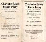 Vintage Essex-Charlotte ferry brochure