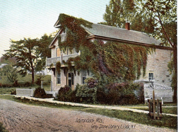 Noble Library, Essex, NY (Postcard)