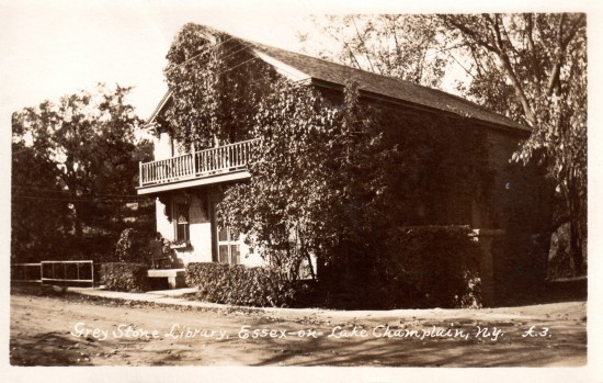 Greystone Cottage in Essex, NY is currently the Belden Noble Library. (Postcard)