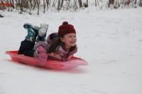 Lakeside School sledding (Credit Jen Zahorchak)