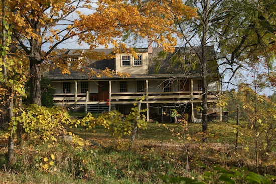 Lakeside Farm House at Black Kettle Farm in autumn