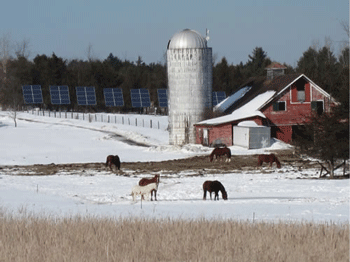 Winter at the farm. (Credit: Whallonsburg Grange)