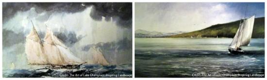 Storm on Lake Champlain & Champlain Sailing (Credit: The Art of Lake Champlain: Inspiring Landscape)