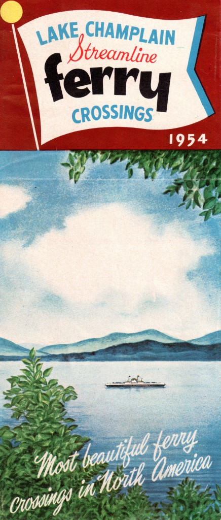 Front of 1954 LCT Ferry Brochure