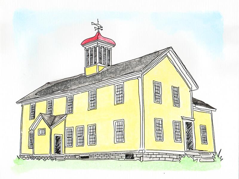 Union School in Essex, NY, aka Union Free School was constructed circa 1867. (Source: Geo Davis)