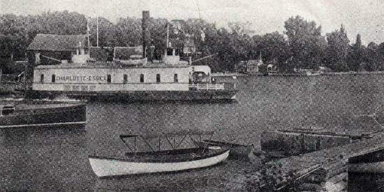 Essex-Charlotte Steam Ferry at Essex dock