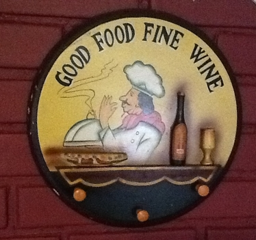 Good Food Fine Wine sign