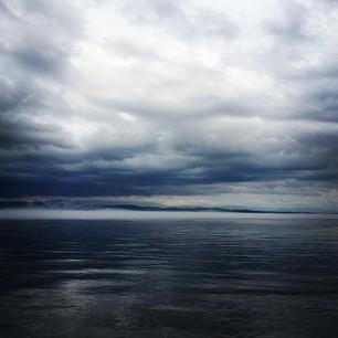 Lake Champlain. Rain. Ominous.