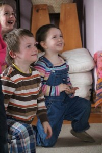 An exciting moment in the story being told in the Kindergarten (Credit: Jen Zahorchak)