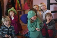 Kindergarten children acting out a Fairy Tale at Lakeside School