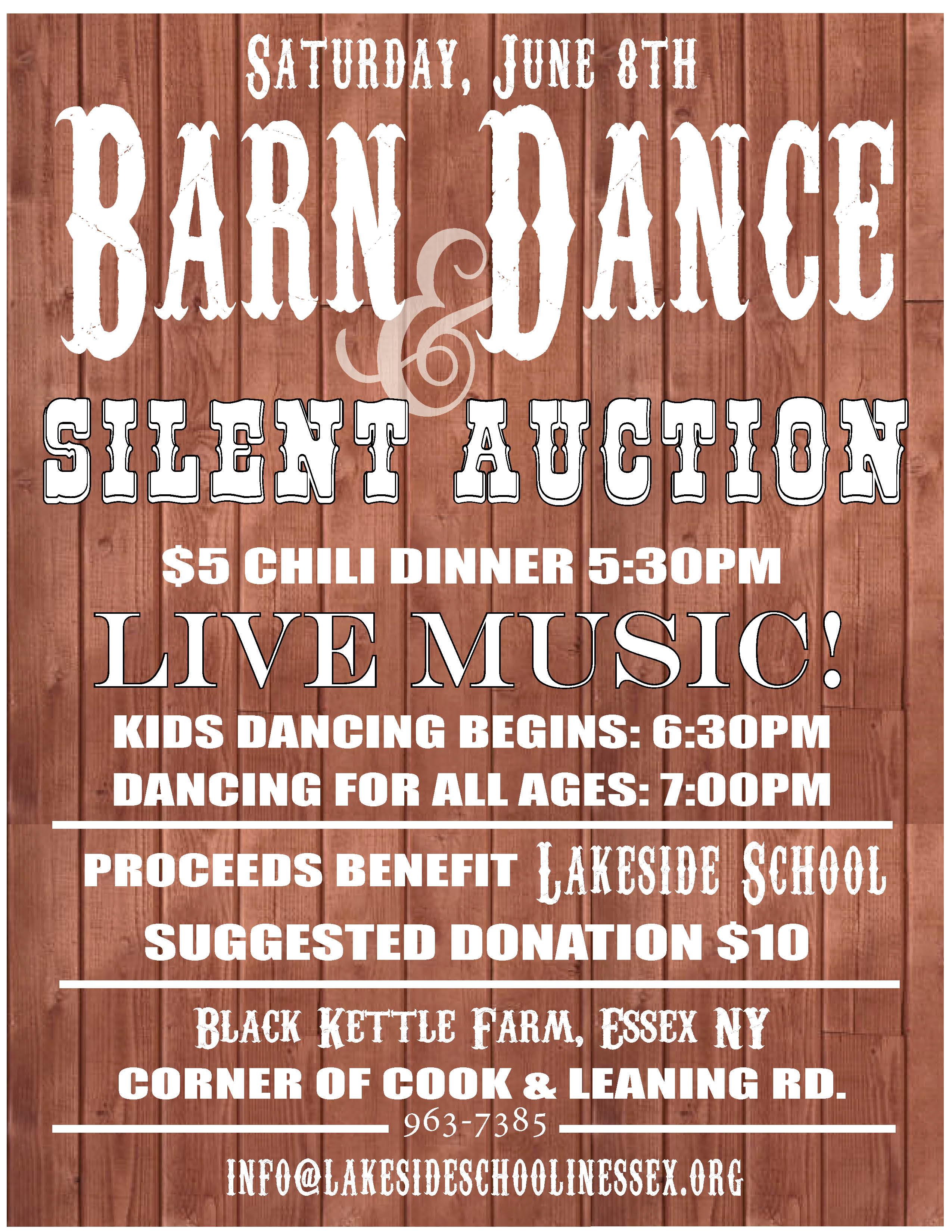 Lakeside School bi-annual barn dance
