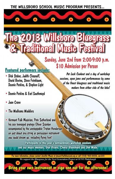 Willsboro Bluegrass & Traditional Music Festival (poster)