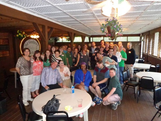 The cast and crew of Route 66 get together at the first Depot Theatre mixer of the summer at the Westport Hotel & Tavern.