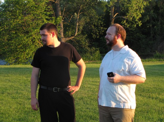 ETC Much Ado Cast: (l to r) Matthew Hammons, Steven Hebert