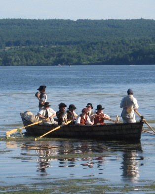 Fort Ticonderoga reenactment on lake