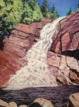 T Lake Falls, by Bill Amadon (acrylic)