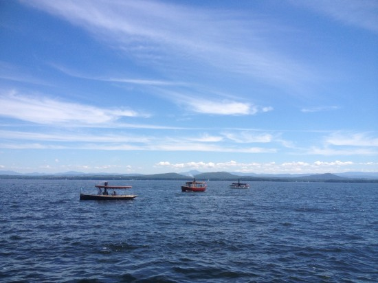 Tugboats playing on Lake Champlain between Begg's Point and the Essex, NY ferry dock.