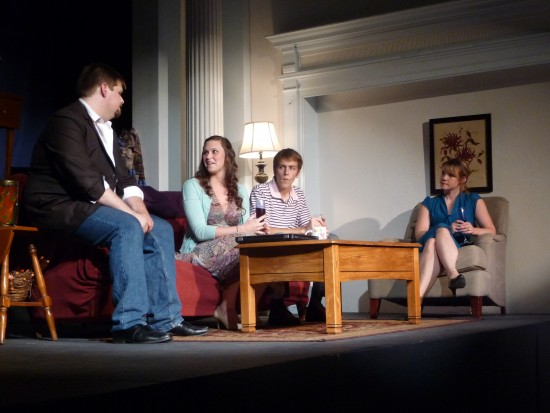 Matt Rock as Max, Beth Abair as Becky Shaw, Evan Fazziola as Andrew, Emily Madan as Suzanna.