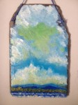 "An example of the ""slate art"" created by Essex, NY area artists for the Adirondack Art Association's 50th anniversary fundraiser."
