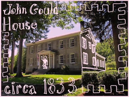 Doodlebomb: John Gould House, Essex, NY (Credit: virtualdavis)