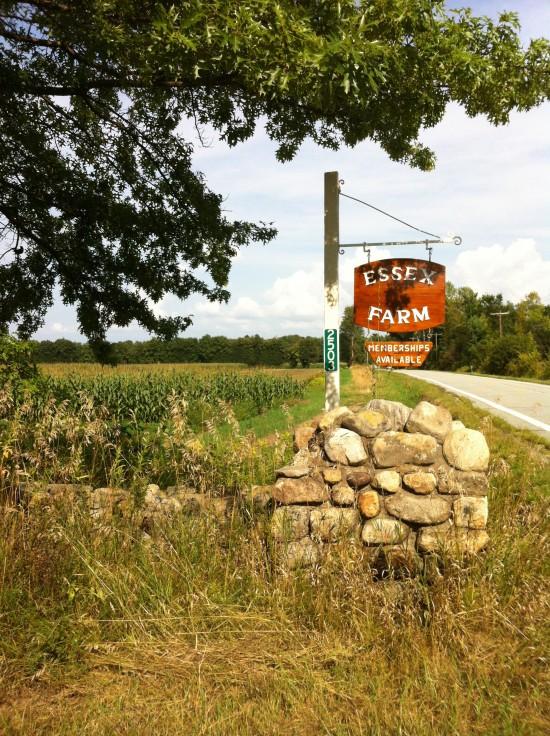 Essex Farm sign (Credit: Kristin Kimball)
