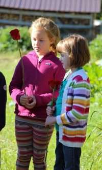 2nd Graders at the Rose Ceremony