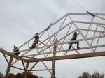 5c Reber Rock Farm barn raising (roof)