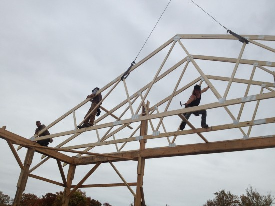 5c Reber Rock Farm barn raising (roof)