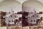 Vintage stereoview: Steeple of Essex Baptist Church rising in the background. (Thanks to Todd Goff for sharing this photo.)