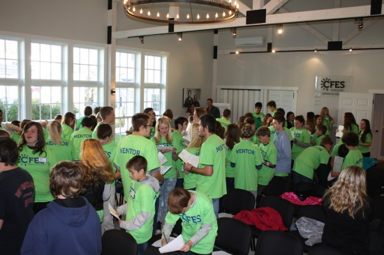 """Students began the events with the icebreaker """"Fast Friends"""" and learned more about each other. (Credit: CFES)"""