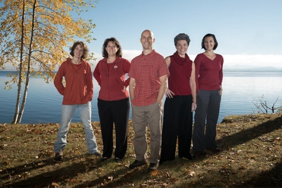 NEW Health Practitioners Courtney Anderson,  Melissa Maki, Brian Trzaskos, Kelly Ecker, and Emily Abruzzi. (Photo by Kevin Young)