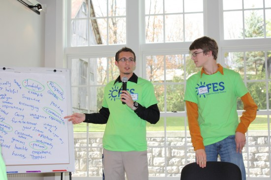 """Adirondack students determined the best """"Qualitites of a Mentor"""" at this recent peer mentor training event. (Credit: CFES)"""