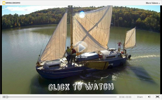 Vermont Sail Freight Project Maiden Voyage (Credit: The National Geographic)