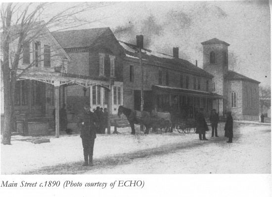 Essex main street winter (c. 1890)