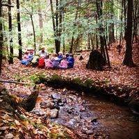 lakeside school kids in the woods
