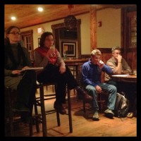 Beth Schiller, Steven Phillips and other attendees at Essex area entrepreneurs meeting.