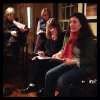 Emily Phillips and other attendees at Essex area entrepreneurs meeting.