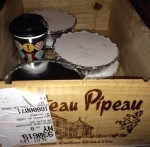 """Every oenophile's favorite """"takeout"""" box! Dinner from Keith Castro at the Essex Inn."""