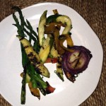 """Smoky, grilled fresh vegetables accompanied my Essex Inn """"takeout"""". Delicious!"""