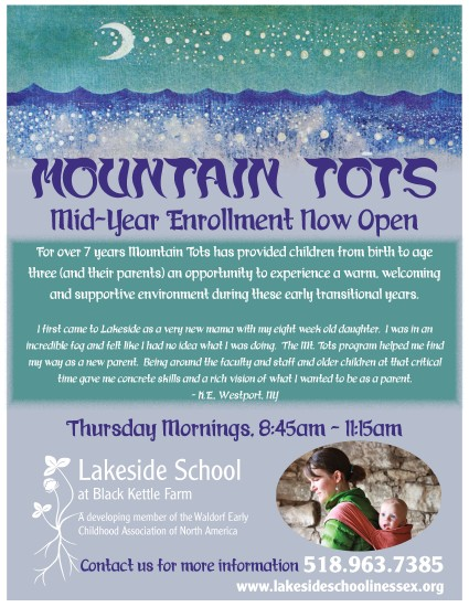 Mountain Tots Mid Year Enrollment Info at Lakeside School